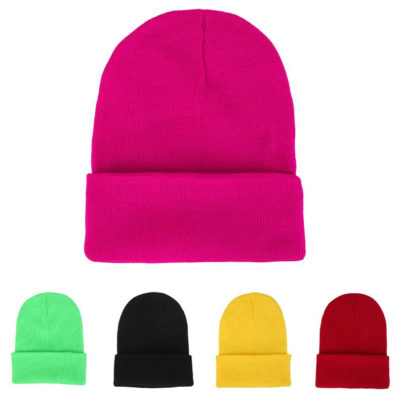 789b96b10d3 2019 Women Beanie Knit Ski Cap Gorros Hombres HipHop Blank Color Skullies  Menino Inverno Winter Warm Unisex Wool Hat Candy Color From Ahaheng