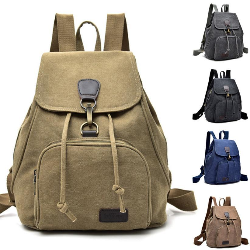 MOLAVE Backpacnew High Quality Canvas School Lady Girl Travel ... e0d0b919c137a