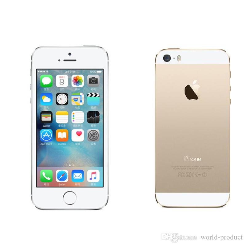 "Refurbished iPhone 5S Touch ID 8MP Apple iOS 8 4.0"" IPS HD Original Mobile Dual Core iphone5s Mobile Phone"