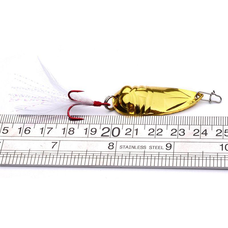 4.2cm-10g 4.5cm-20g Metal Jigs Spinner bait Artificial VIB Iron lure Spinnerbaits Hooks wire baits