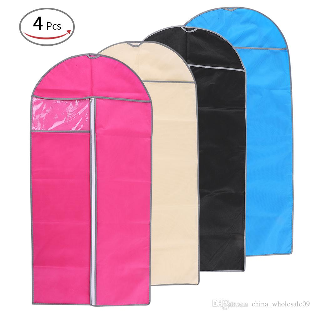 19b88890f916 2019 60 80 CM Clothes Organizers Dustproof Hanging Garment Bags Clothes  Suit Covers With PVC Visible Window For Closet Travel Storage Bag From ...