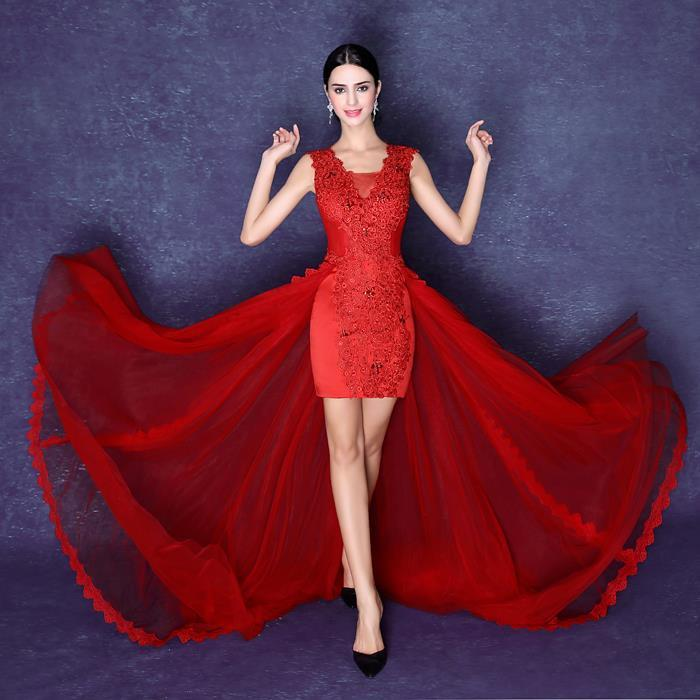 zkc uncle 2018 sexy red short front long back lace chiffon sleeveless cocktail dresses plus size,2488.ty.hd