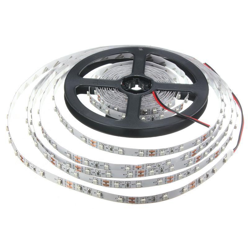 Best Price 0.5/1/2/3/4/5M 3528 SMD 60LED/M UV Ultraviolet Purple LED Strip Lamp Black Light Non Waterproof IP20 DC12V