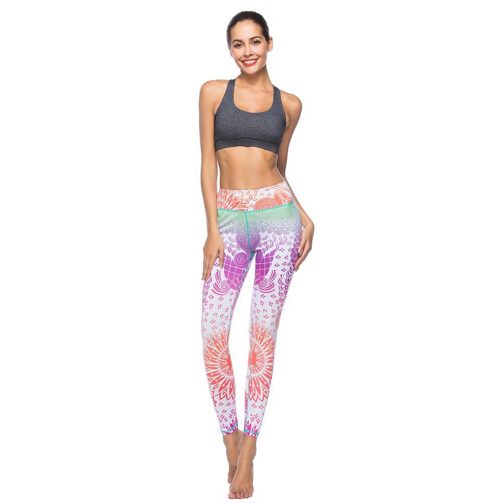 6003ccd3b Femmes Sexy Yoga Pantalon Imprimé Sec Fit Sport Leggings Femme Entraînement  Pantalon Running Collants Fitness Élastique Gym Tighty Stretchy