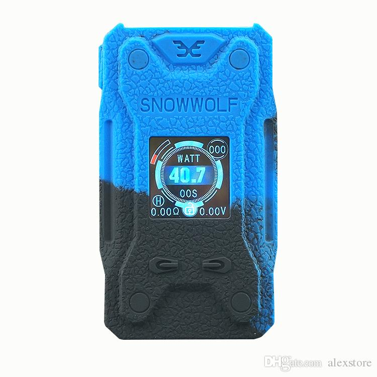 Silicone Cases Rubber Sleeve Protective Cover Skin Enclosure for Sigelei Snowwolf XFeng 230W TC Box Mod Snow Wolf 230 Vape Pen DHL