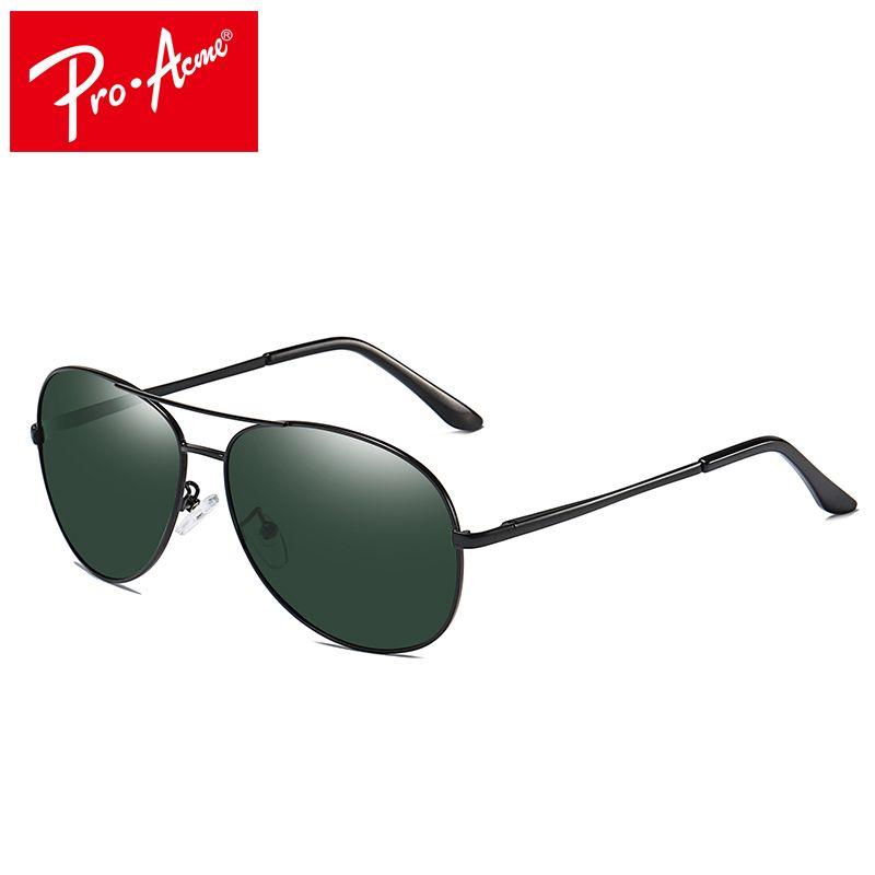 d731bbccf6 Pro Acme Classic Pilot Polarized Sunglasses Men Women Metal Frame ...