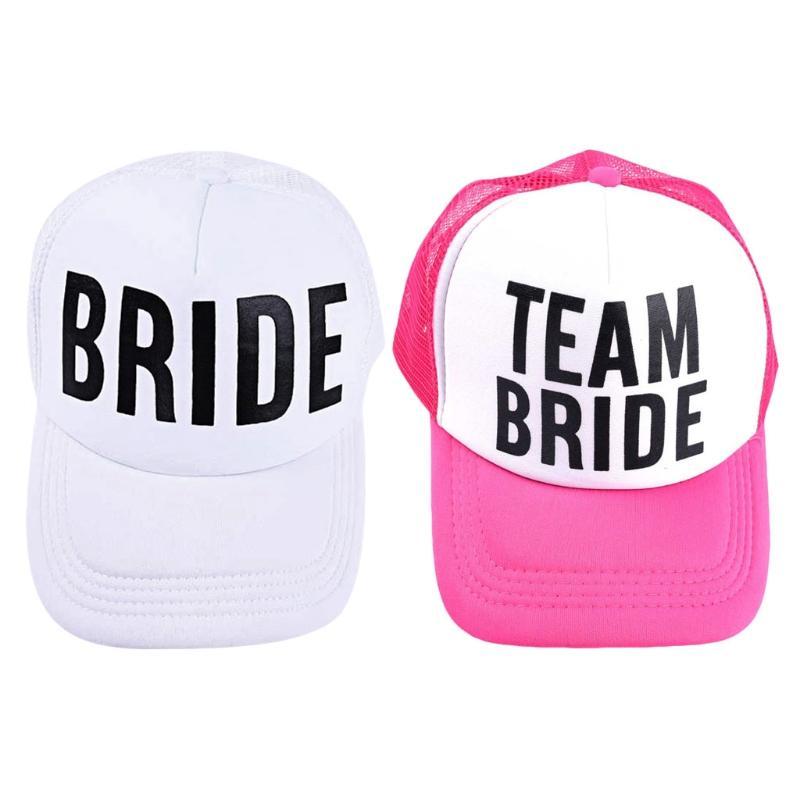 3eeb8c633c4 2018 Hot Bride Baseball Hat Bridal Wedding Party Trucker Cap A17 40 Baseball  Caps Custom Hats From Frenky