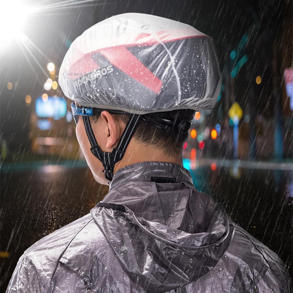 Rockbros Windproof Dust-proof Rain Cover MTB Road Bike Helmet Cover Black