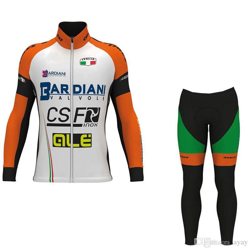 2017 Winter Fleece Pro Team BARDIANI CSF Cycling Jersey Warmer Bicycle  Maillot Breathable MTB Bike Clothing Ropa Ciclismo GELpad Bib Shorts Sale  Bike T ... 73f40d268