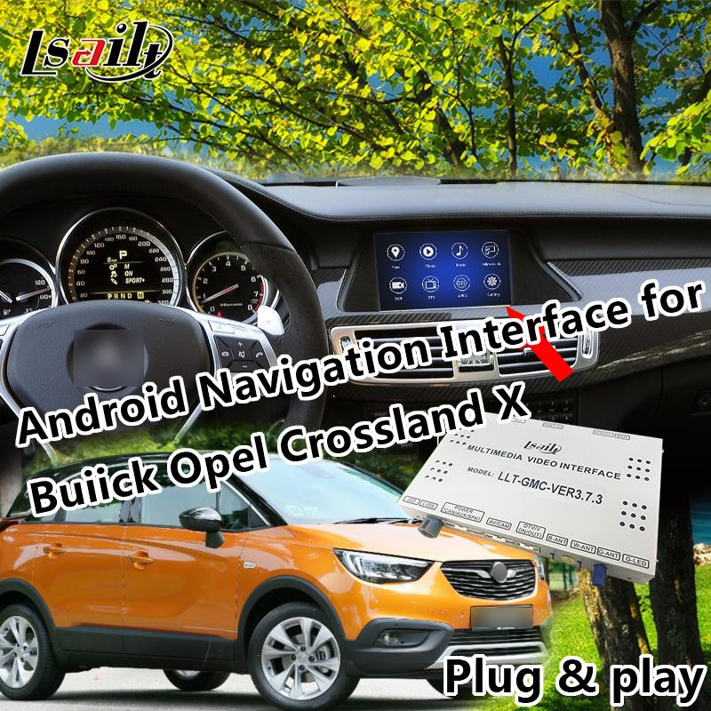 Plug & Play Android 6 0 Navigation Interface for Crossland X etc  with waze  Online Map Yandex Miracast WIFI Bluetooth GPS