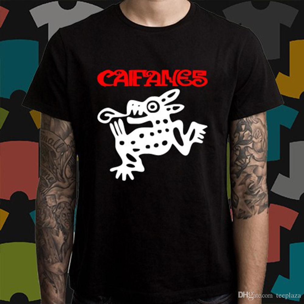 4980aea5 Cool Graphic Tees Crew Neck Short-Sleeve Office Caifanes Jaguares ...