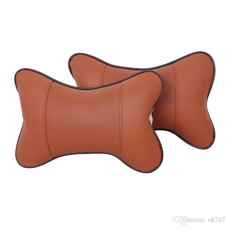 Breathe Car Vehicle Auto Seat Head Neck Rest Cushion Headrest Pillow Pad 25*17CM travel Car cushions