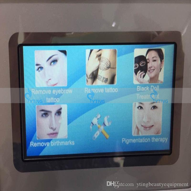 2000mj Touch screen Q switch nd yag laser beauty equipment hair tattoo removal eyebrow lipline skin tag removal machine 1320nm 1064nm 532nm