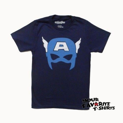 Captain America Simple Mask Avengers Marvel Comics Licensed Adult T Shirt Funny free shipping Unisex Casual tee gift