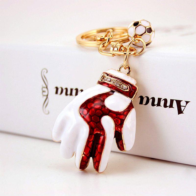 Cartoon Baseball Glove Keychains Key Chain Jewelry Rhinestone Luxury Keychain  Womens Bag Charm Keyring Llavero Porte Clés Personalised Keyrings Paracord  ... f01ac1ef89