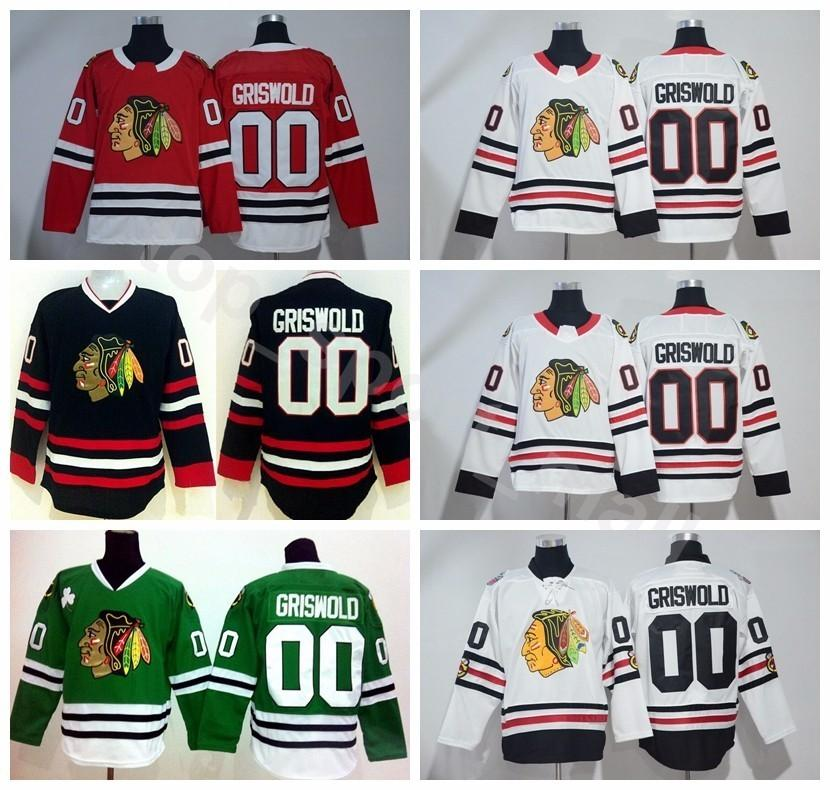 Men Style 00 Clark Griswold Jersey Chicago Blackhawks 2017 Winter Classic  White Red St Pattys Day Green Ice Hockey Jerseys UK 2019 From Vip sport f51216ee2