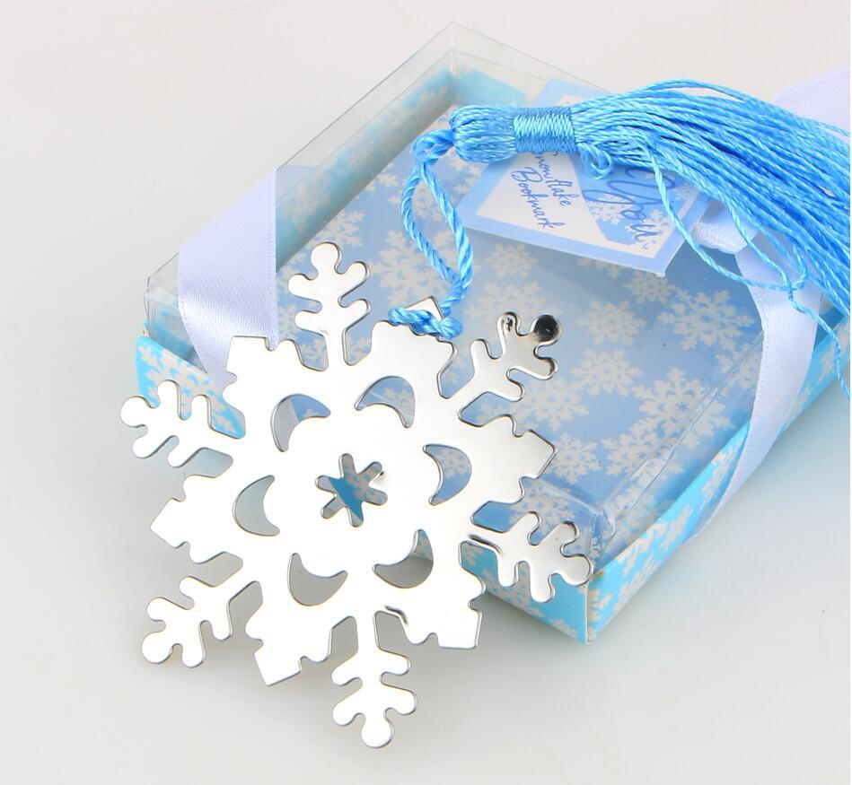 Metal Snowflake Bookmark Kids Shower Baby Birthday Gift Wedding ...