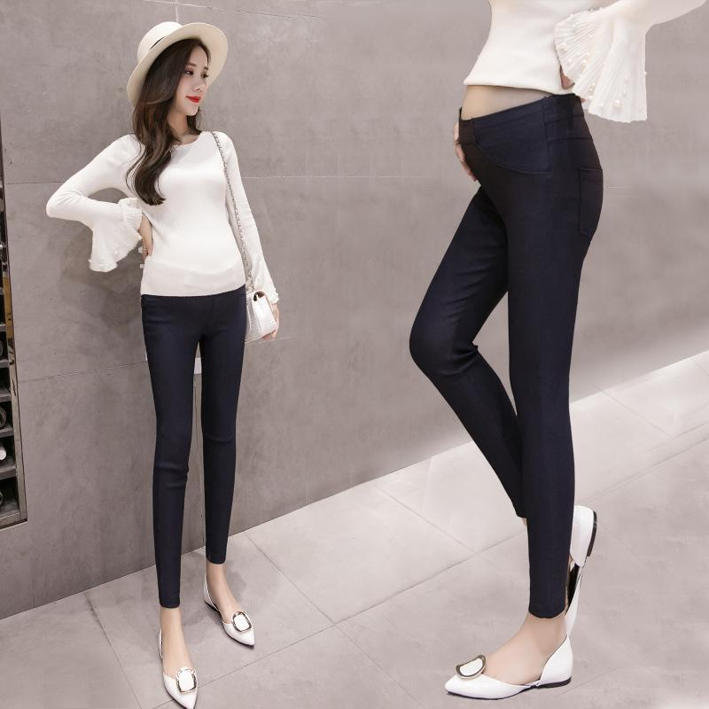 f4e7fd055 2019 166303  High Waist Belly Skinny Maternity Pants 2018 Autumn Fashion  Pencil Clothes For Pregnant Women Slim Pregnancy Legging From Humom