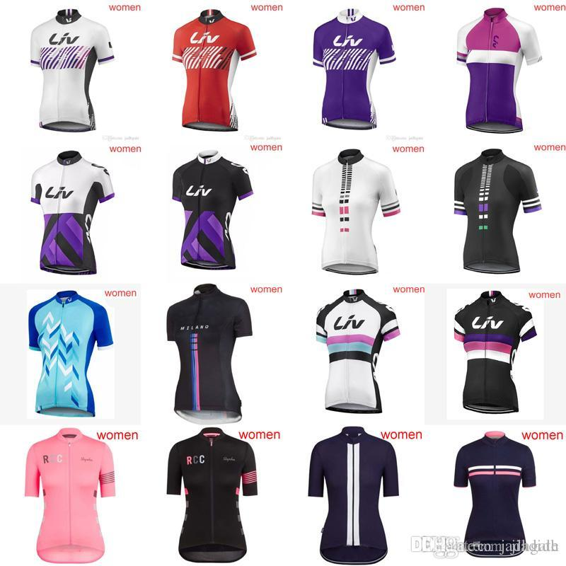 HOT Sale Women LIV RAPHA Team Cycling Short Sleeves Jersey Bike ... 0ac808e8a