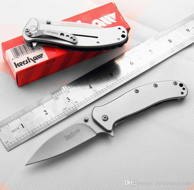 En gros kershaw 1730 SS couteau pliant couteau de poche OEM qualité boîte d'origine non libre shippiing le plus bas côté côté lock8cr17mov lame