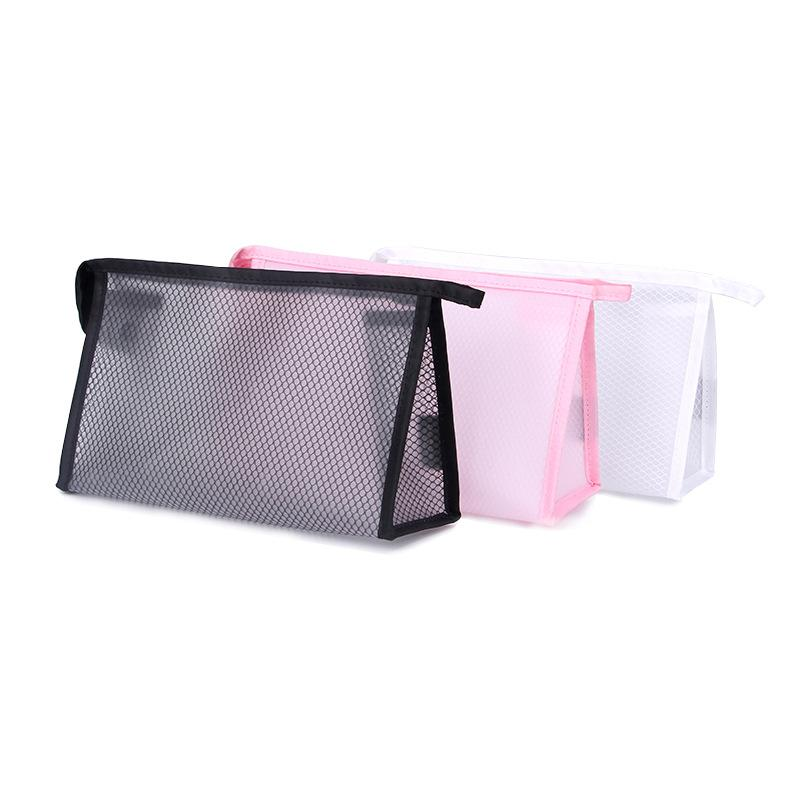 RDGGUH New Travel Mesh Cosmetic Bag Women Fashion Beauty Makeup Transparent Make  Up Bags Organizer Storage Pouch Toiletry Bag Cosmetics Makeup Brushes From  ... 5b613c7e6c592