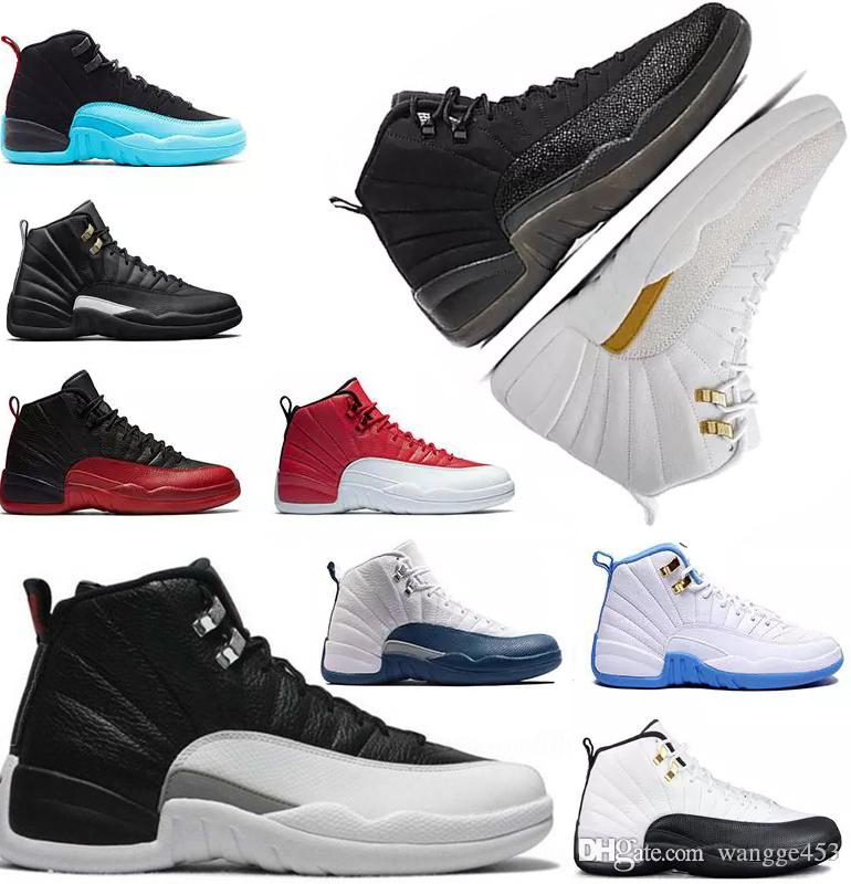 4241875b01de High Quality 12s 12 Basketball Shoes Mens White Black Master GS Barons Wolf  Grey Flu Game Taxi Playoff French Blue Gym Red Sneaker Basketball Shoes 12  ...