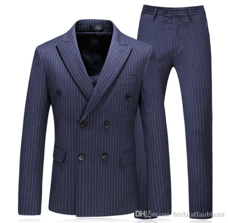 Compre Chaqueta + Chaleco + Pantalones 2018 Traje De Hombres De Lujo De  Primavera Hombres De Negocios Casuales De La Boda Traje De Hombres Vestido  Completo ... e5379b65ac9