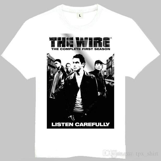 The Wire T Shirt Listen Carefully Short Sleeve Gown Film Tees ...