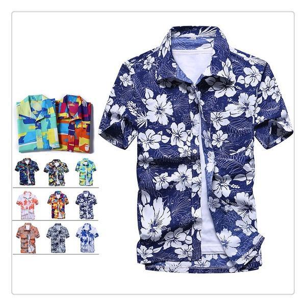 Compre LCXASD Moda Verão Camisa Havaiana Mens Flor Imprimir Praia Aloha  Partido Acampamento De Férias Camisas Plus Size 5XL 9 Cor Mannen Strand  Camisas De ... 581e6fcb1580f