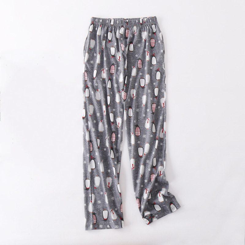 Ropa Grandes Duermen Pijama Pantalones Suelta Dormir 100Algodón Espesar Otoño Mujer Mujeres Tallas De Noche Dibujos Las LzMSUVpGq