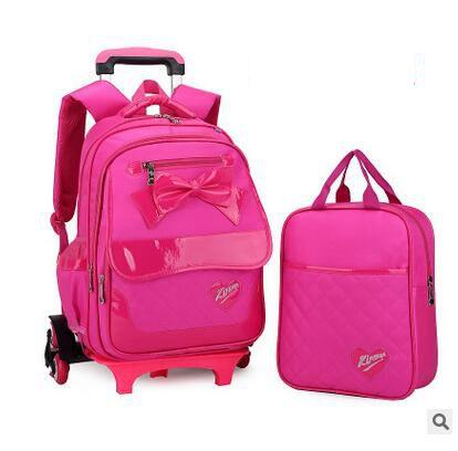 4f17cd284ada kid School Rolling backpack for girl Children luggage bags Trolley School  backpack wheeled kids Trolley bag On wheels
