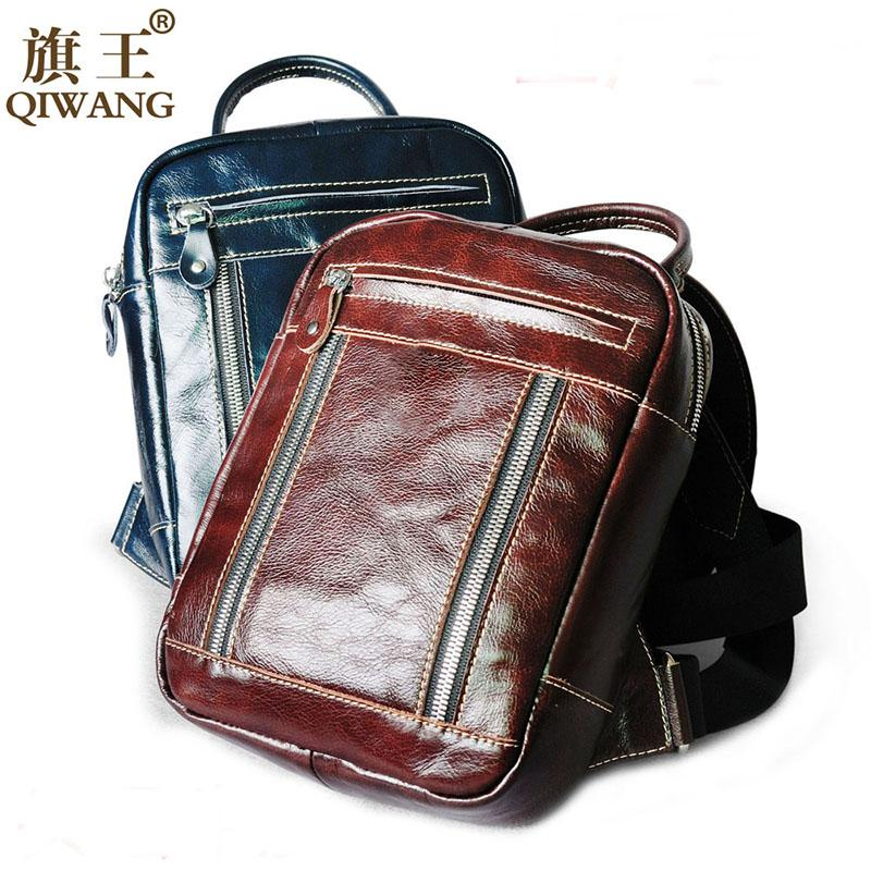 53578ed269 Fashion Designer Women Genuine Leather Backpack Real Leather Fashion Bags  For Teenagers Travel Oil Wax Cow Female Phone Back Bag Toddler Backpacks  Mens ...