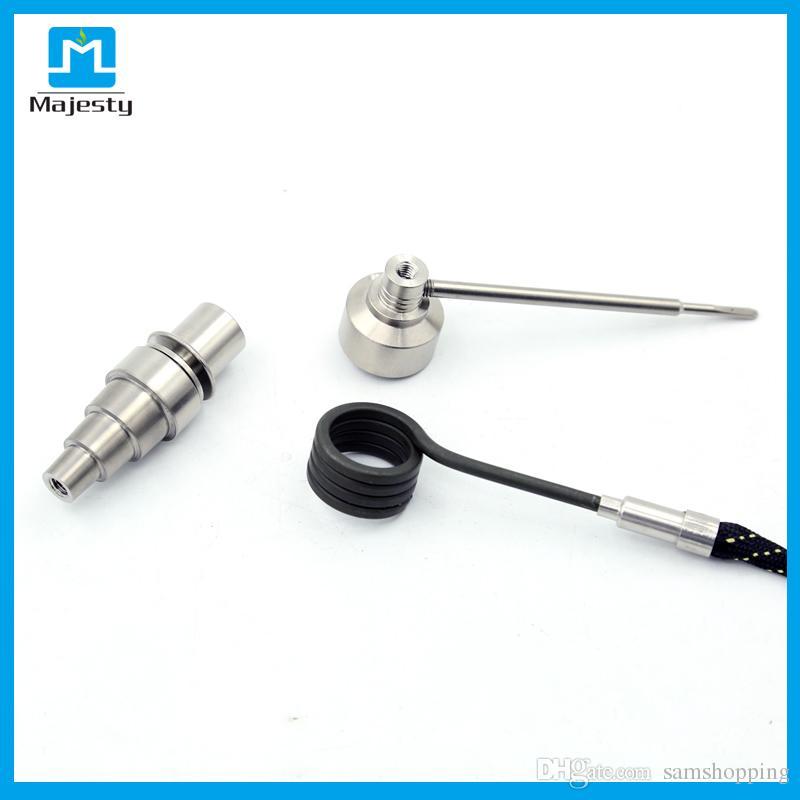 Kit de uñas eléctrico universal para mini uñas de esmalte para plataforma de aceite con temperatura de uñas de titanio 250 - 999 grados Fahrenheit