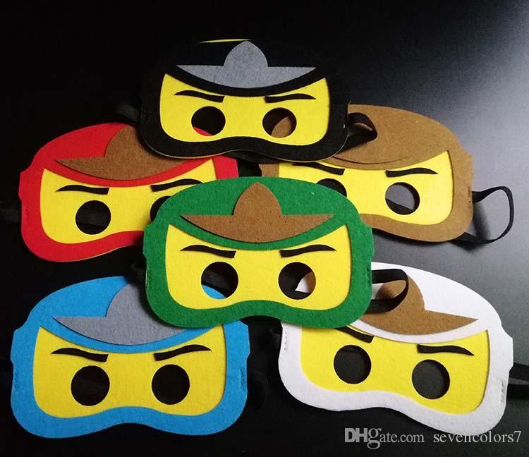 Cartoons Ninjago Cosplay Masks Kid Birthday Party Halloween ...