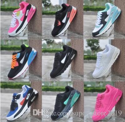 top fashion d2cf0 16728 Acquista SPEDIZIONE GRATUITA New Mens Sneakers Shoes Classic 90 Uomini E  Donne Casual Scarpe Black Red White Scarpe Sportive Traspiranti A  17.01  Dal ...