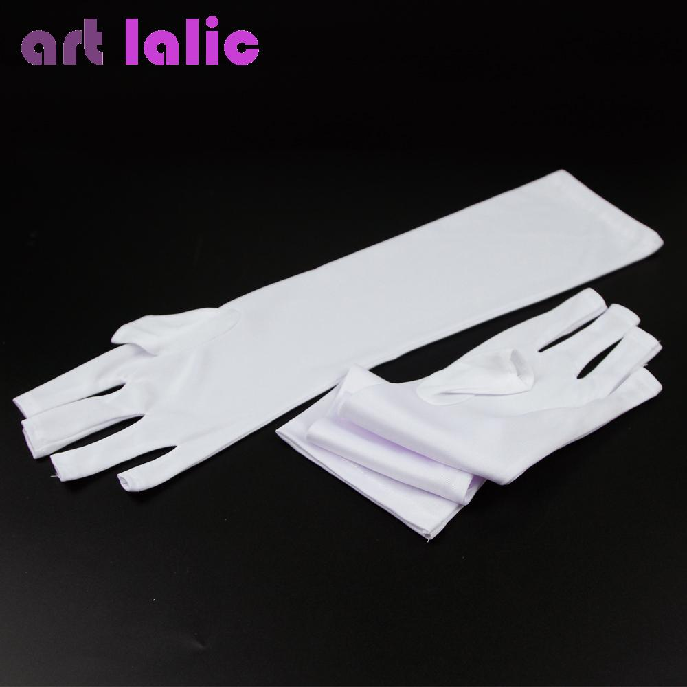 UV Protection Nail Art UV Gel Anti-ultraviolet Open-toed Gloves ...