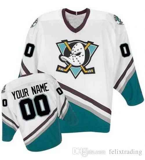 2019 Custom Mighty Ducks Jersey Charlie Conway Dean Portman Fulton Reed  Adam Banks Andy McDonald Jean Sebastien Steve Shields Movie Jerseys From ... 733f0d575a8