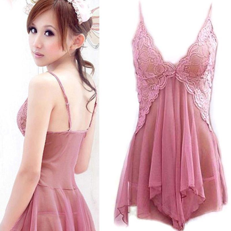 Sexy Bodycon Lingerie Nightwear Sleepwear Dress Baby Lace G-String ... 5476560a6