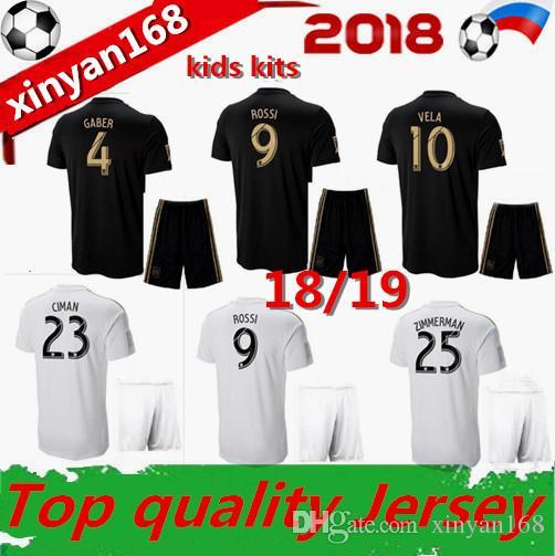 76c03f99f Kids Sets 18 19 Los Angeles Fc Carlos Vela LAFC Soccer Jerseys Kits ...