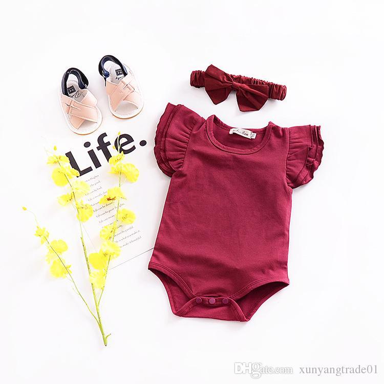 Baby-Spielanzug-INSommer-Jungen-Mädchen-Spielanzug-Süßigkeit-Farben-Baumwollfliegen-Hülsen-Kind-neugeborene Kleidung Baby-Spielanzug-Overall-Bodysuit 8 Farbe 237