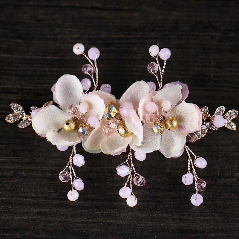 Bridal hairpin fabric flower set pearl bridal hair accessories factory wholesale 2018 new wedding accessories headwear