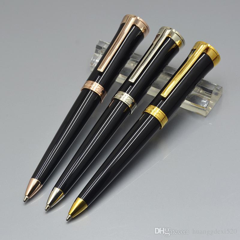 Moda Carties marka Toplama Tükenmez kalem Yüksek kalite Mavi / Siyah / Kırmızı Metal kırtasiye ofis okul malzemeleri Sevimli yazma Tükenmez kalem