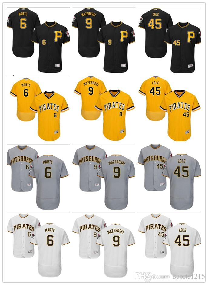94c4582b6 Custom Men s Women Youth Pittsburgh Pirates Jersey  45 Gerrit Cole 9 ...