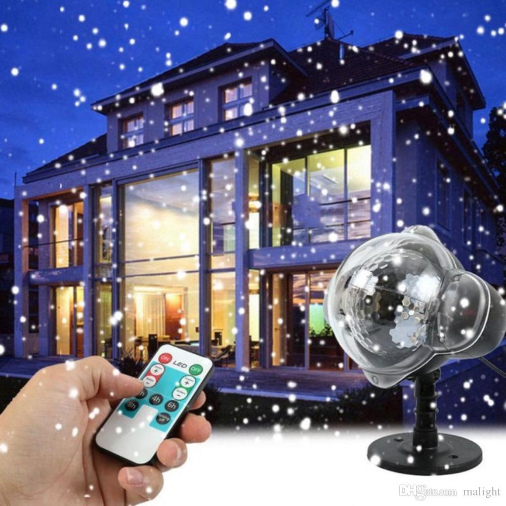 Großhandel Schneefall Projektor Beweglichen Schnee Outdoor Garten ...