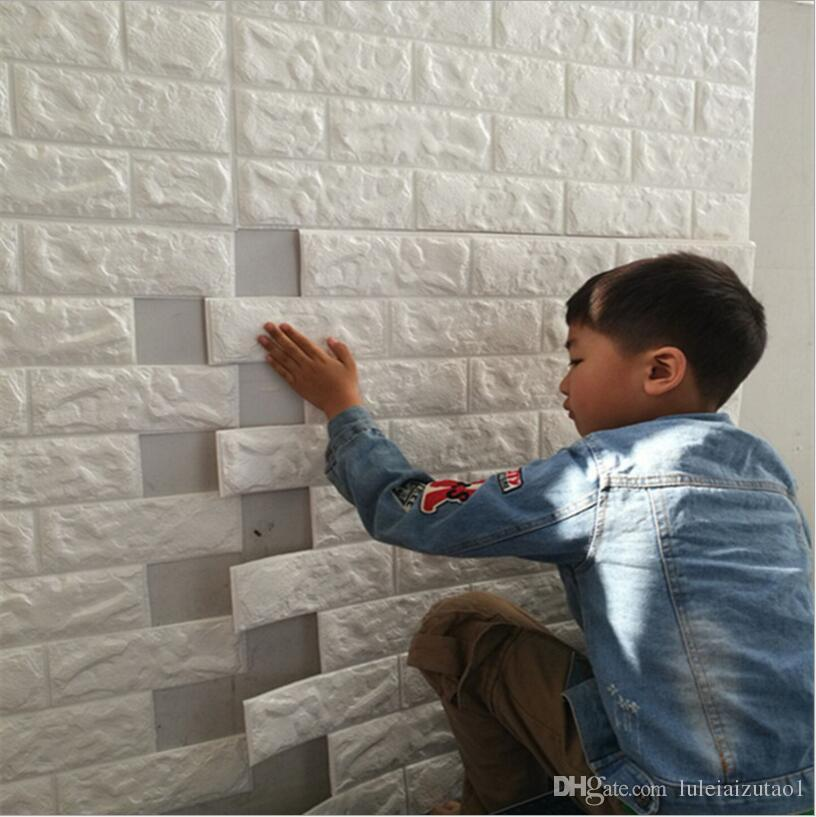 Diy Brick Wall 3d Sticker Living Room Tv Background Decor Foam Waterproof Stickers Self Adhesive Wallpaper Decoration For Kids Big