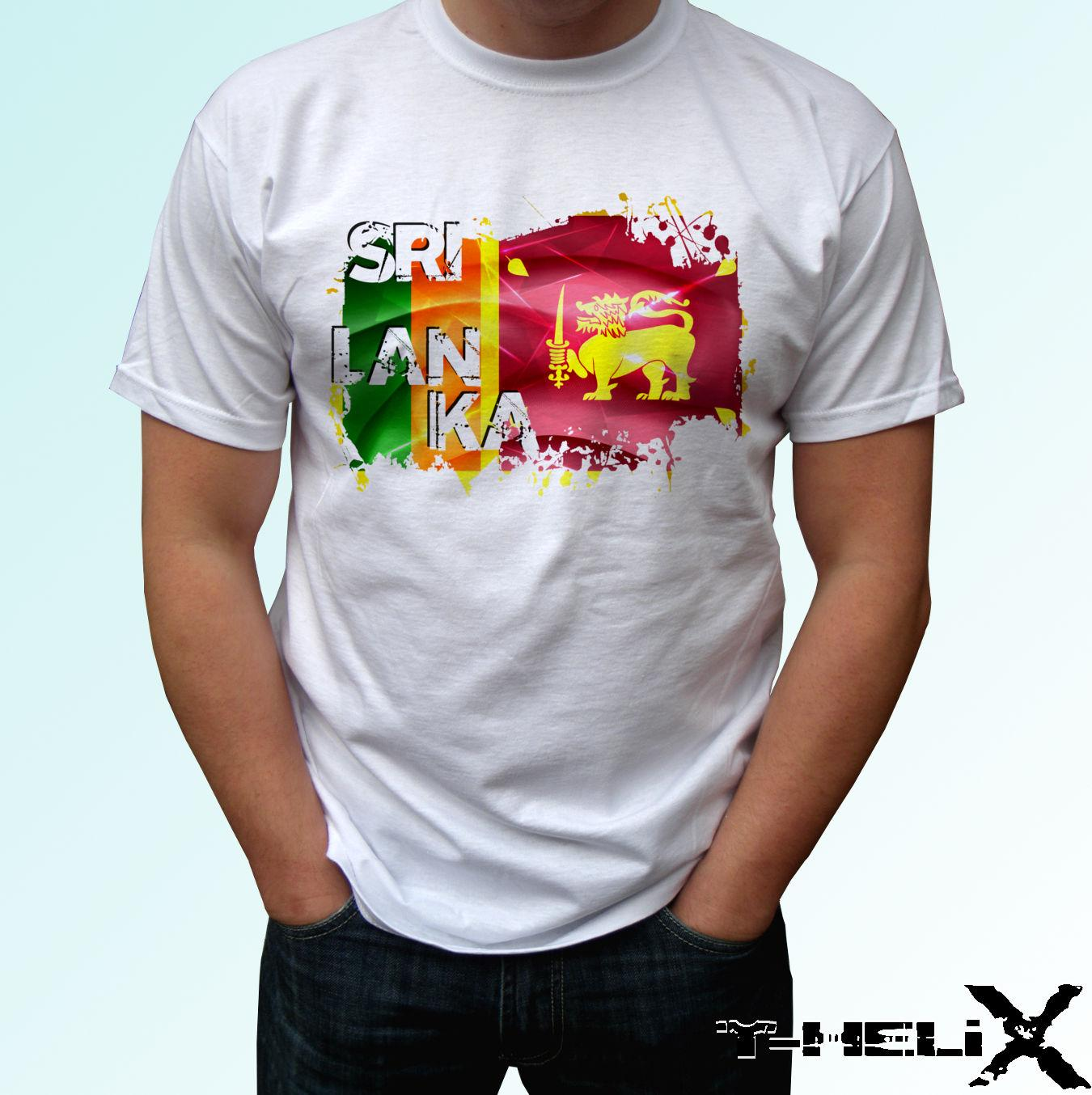a2a9e1137d4 Sri Lanka Flag White T Shirt Top Country Design Funny Unisex Casual Cool  Team Shirts Crazy Shirt Designs From Afterlightclothing