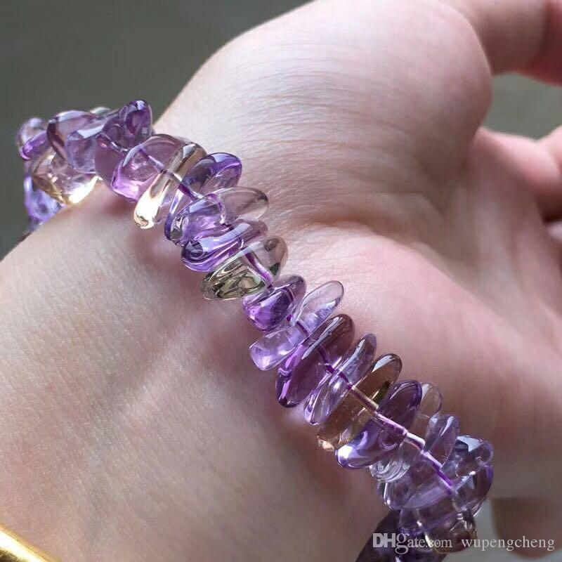 Natural and fashionable Brazilian amethyst bracelet, irregular stone chain, gemstone chip beads chain, ladies fashion products beads chain