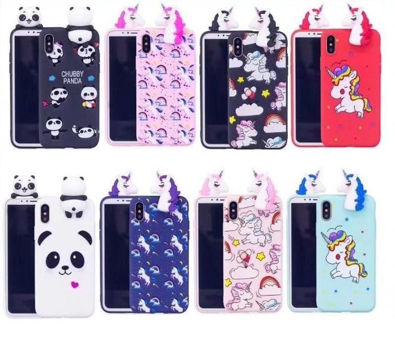 buy online c2e30 9cd25 Cute 3D Doll Soft Silicone Case for Samsung S9 PLUS S8 PLUS NOTE8 S7 edge  S6 edge Women Girls Lovely Panda horse case