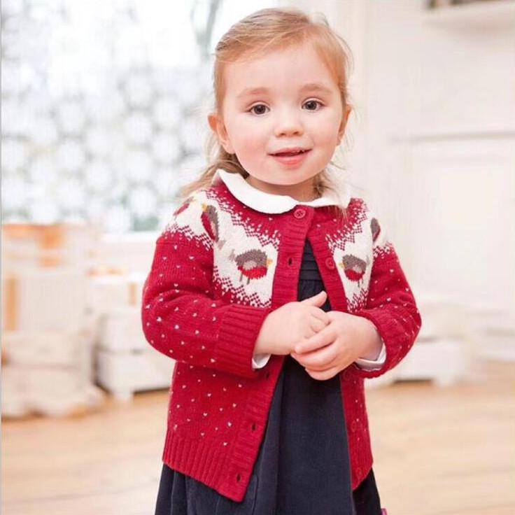 767a6d296 2 6 Years Old Baby Girl Sweater Child Winter Sweater Cardigan Jacket ...