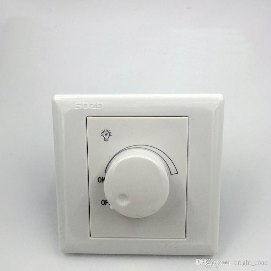 Silicon Controlled LED Dimmer Switch AC 90~250V 300W Adjustable Controller On Off Switch For Dimmable Down light Spotlight Incandescent lamp